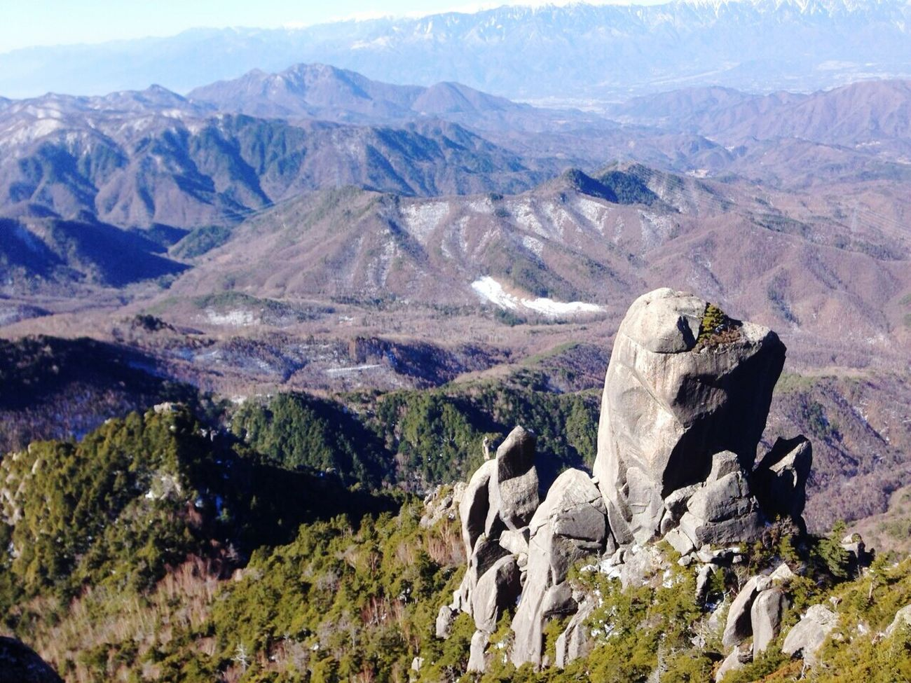 Photos of this beautiful place Mountains Snow Big Rock Beautiful , Mt.Mizugaki in Japan