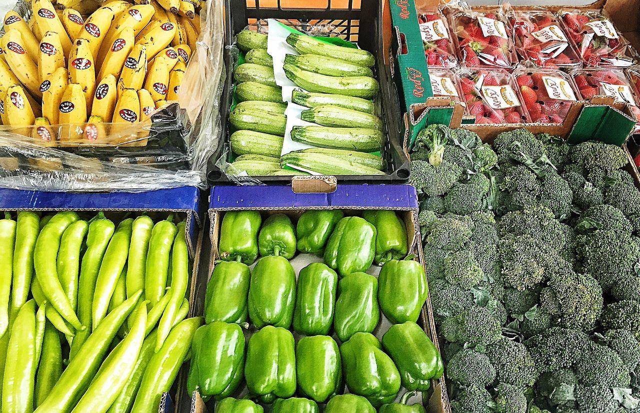 Strawberry Banana Bananas Green Pepper Pumpkin Stuffed Pepers Broccoli Vegetables Fruit Mersin Turkey