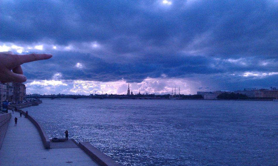 Where to next? Clouds Dramatic Sky Eyem Best Shots Majestic Petropavlovsky Krepost River Sankt-Petersburg Sky To The Sea