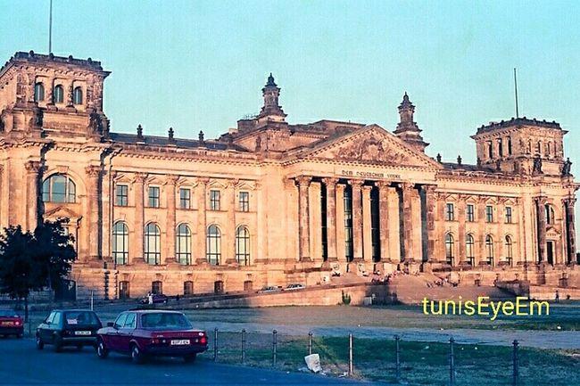 Berlin 1990 Germany Excursion Voyage Reichstag من تونس رحلة تصويري  برلين