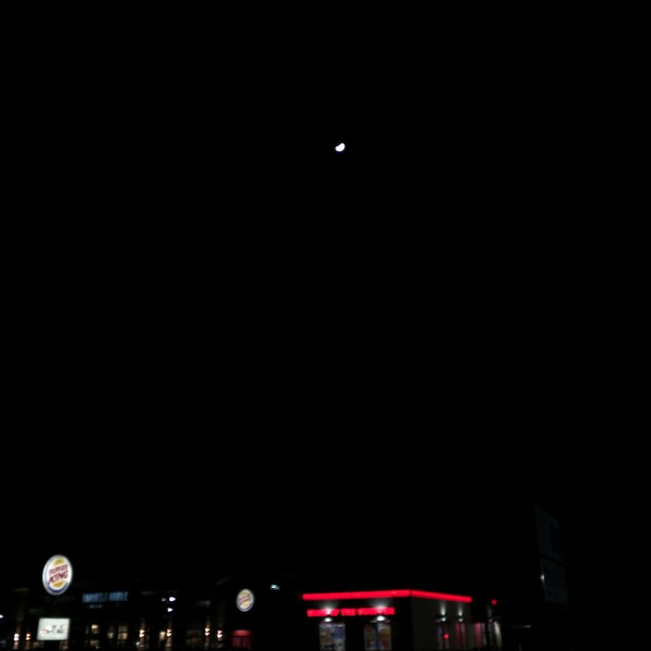Copy Space Night Moon Dark Sky Black Background Outdoors Illuminated No People Astronomy Minimal Love It When It Feels Right One Evening Out Ground Beef Ground Sky Pin Of Light