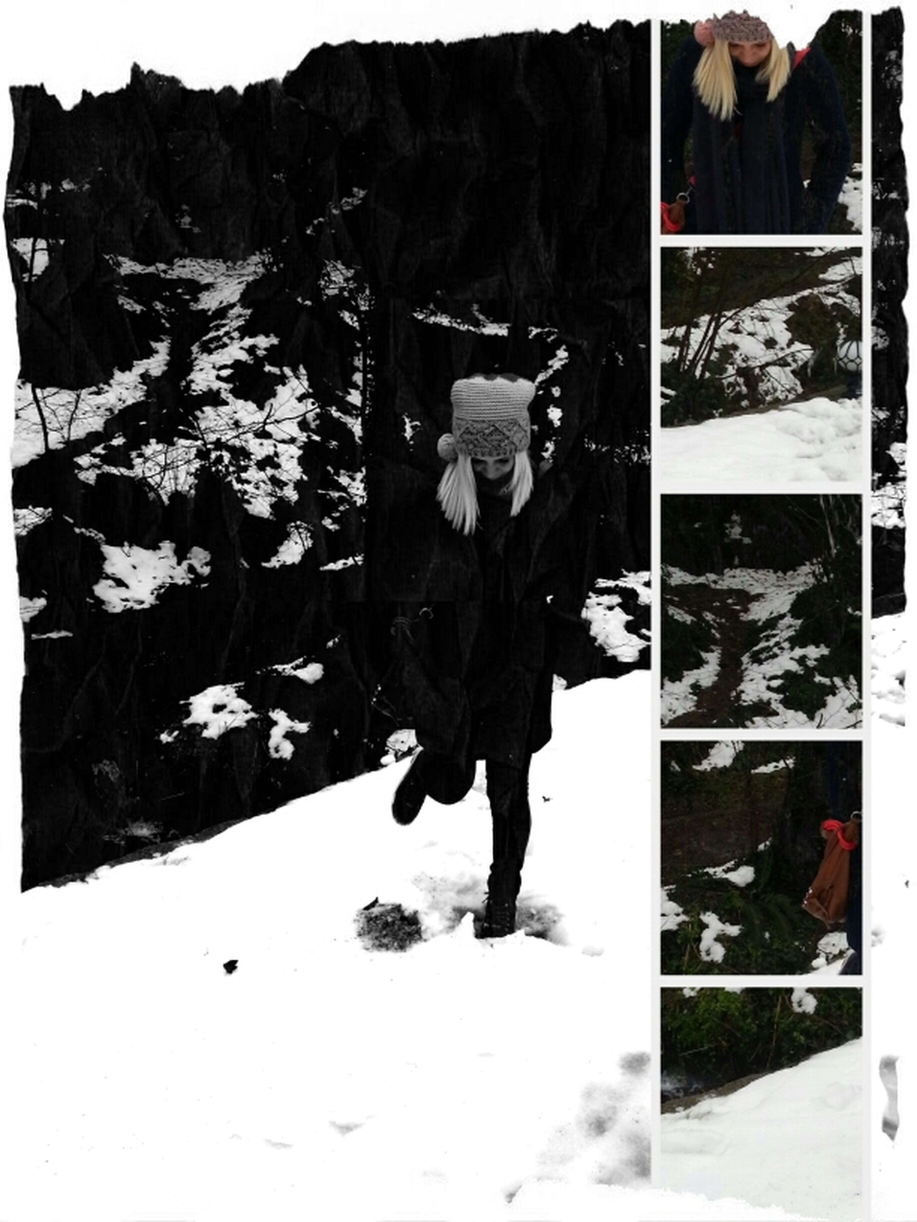transfer print, auto post production filter, standing, lifestyles, full length, leisure activity, men, walking, low section, snow, person, winter, season, rear view, day, shoe, outdoors