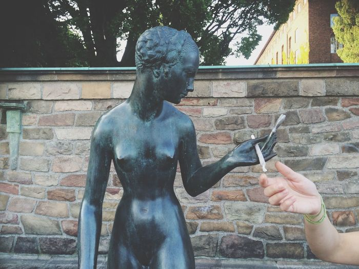 Yes I Love Weed Smoking Hash Stockholm Sweden Statue