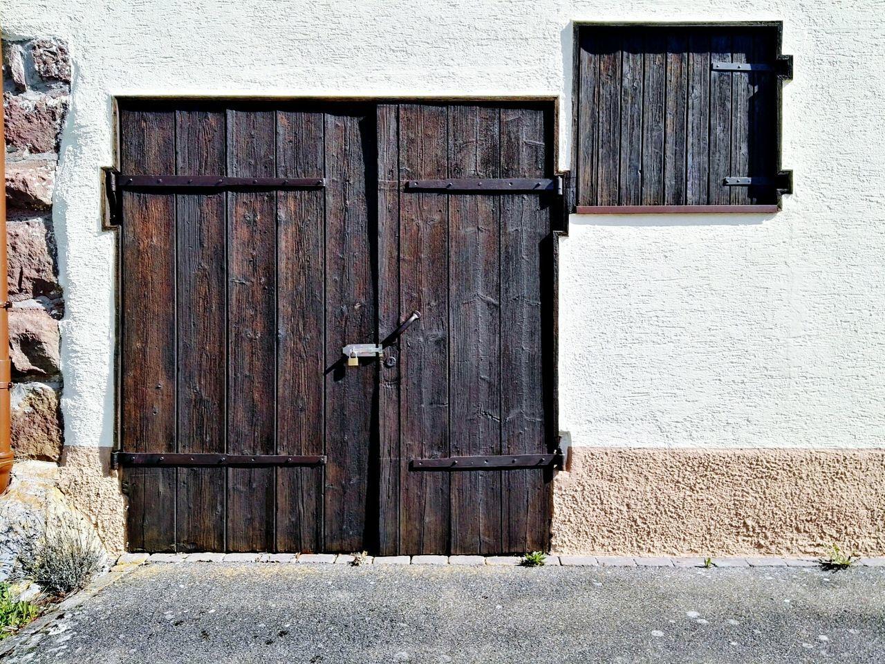 Old door Closed Door Architecture Built Structure Building Exterior Outdoors No People Lock Aged Old Door Old Building  Old Barn Vintage Style Traditional Wooden Door Handmade Door