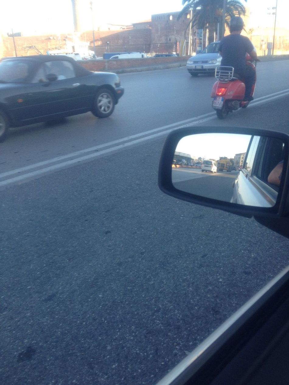 From My Point Of View Streetphotography Street Strada Reflection Riflessi Specchietto Car Auto