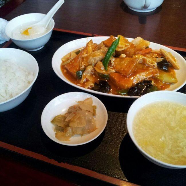 ランチの家常豆腐。