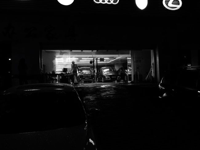 Surrounded Darkness Transportation City Life Dark Cars Cooking Garage Lifestyles Life Quiet Moments Person