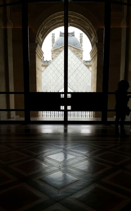 Louvre Louvremuseum Interior Glasspyramid Window Palais Historic Architecture Architecture_collection Light And Shadow Reflections And Shadows Symmetry Musée Du Louvre Pyramide Du Louvre Outside The Window Room With A View The City Light