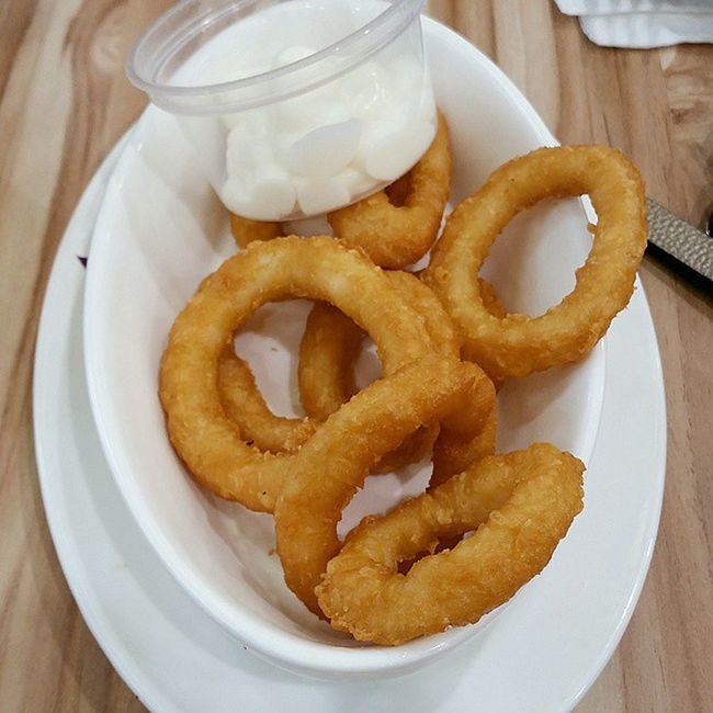 Fried calamari ? Calamari Friedfood Mayonaise Eighteenchefs love gf