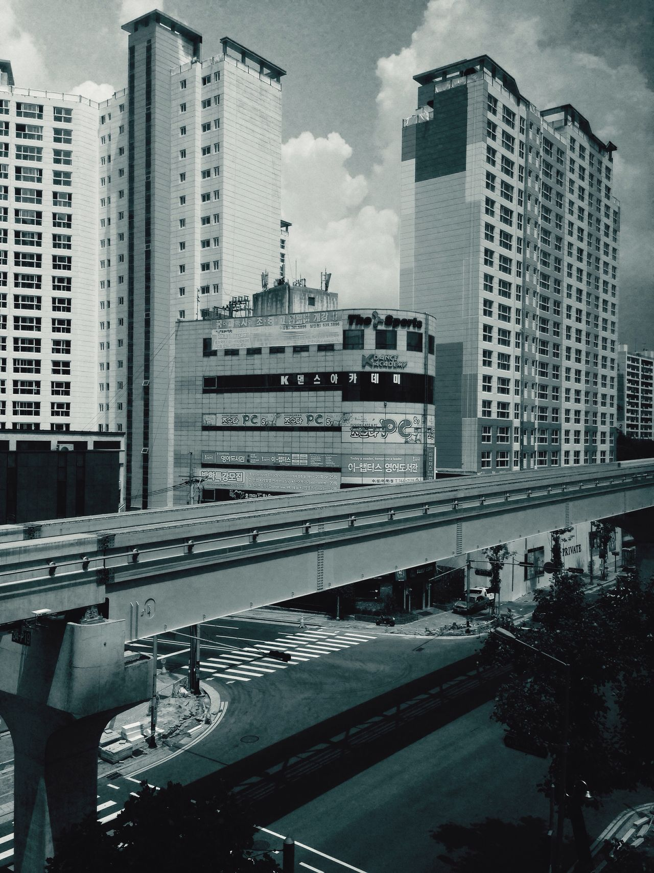 View Building Monorail  Clouds And Sky Photography EyeEm Best Shots EyeEm Best Shots - Black + White
