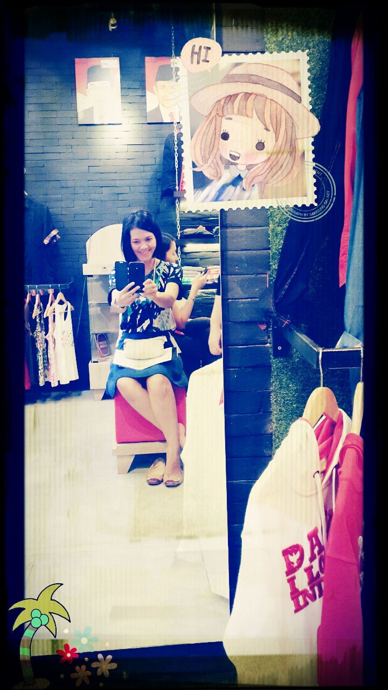 Me.. Women In Da'mirror Selfie ✌ At The Store Enjoying Life #hii..