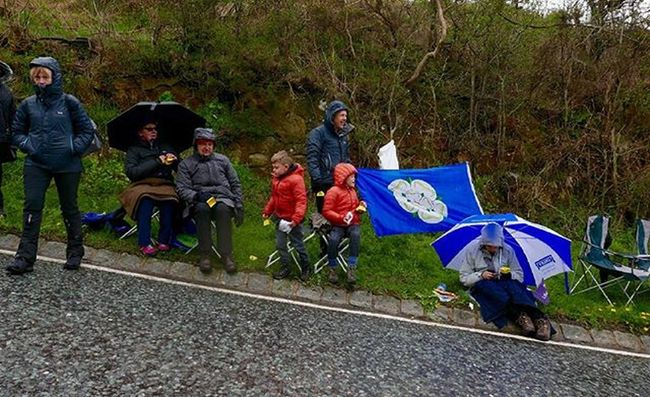 Spectators waiting for the Tdy to come past at Suttonbank Cycling