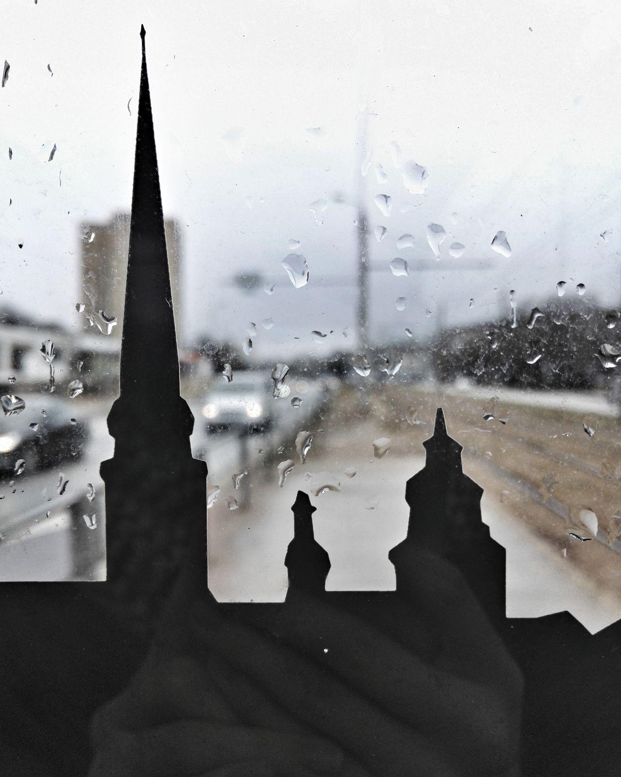 Riga Small Things Drops Rain City City Life Window Weather Wet Rainy Season