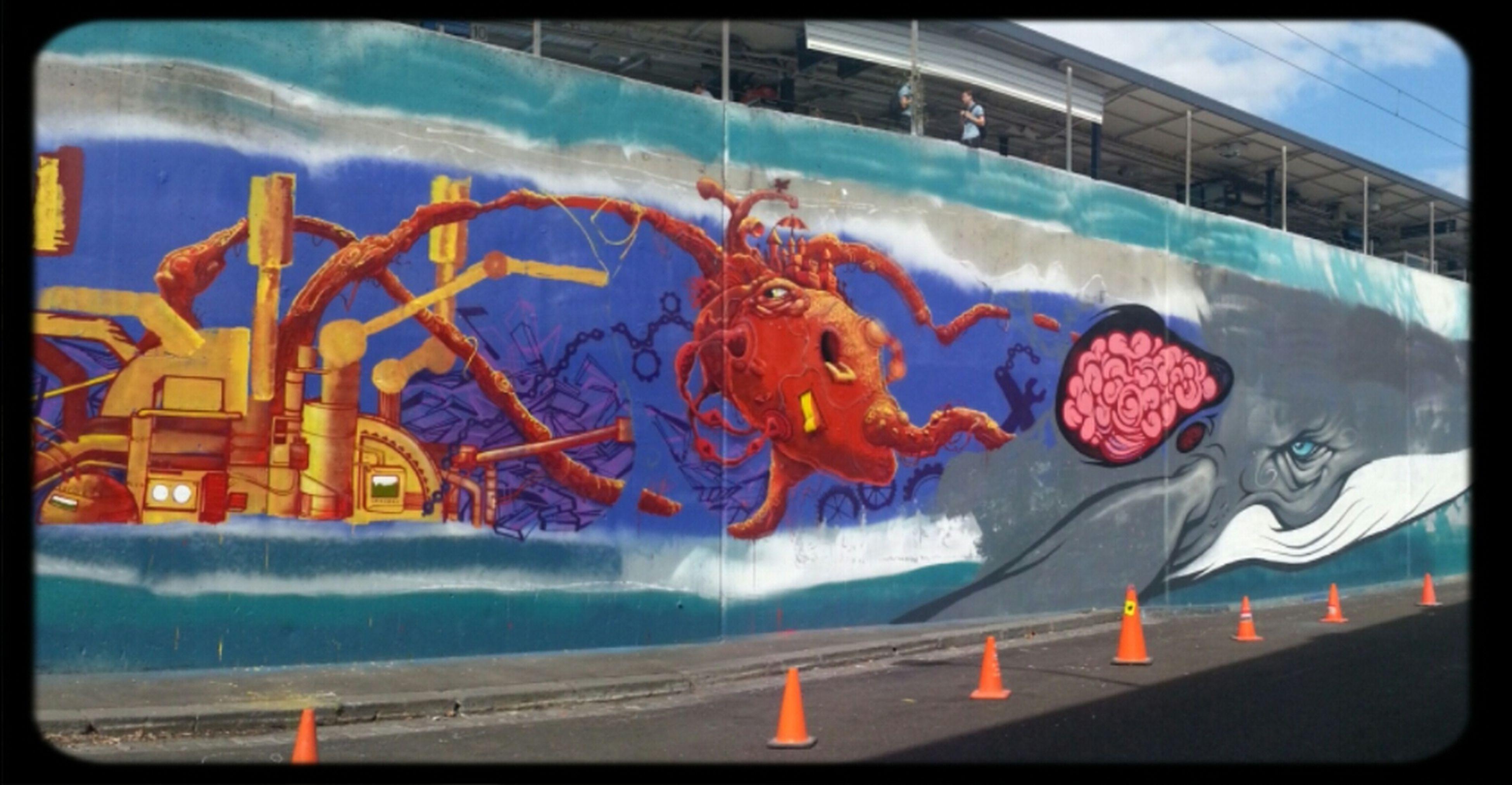 Streetart Whale Dem189 Makatron Work-in-progress