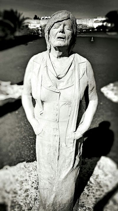 Old But Awesome Streetphoto_bw Art Sculpture Human Figure Expressive Sculpture Black And White Stanca Blackandwhite Monochrome Art Gallery Lanzarote Canary Islands