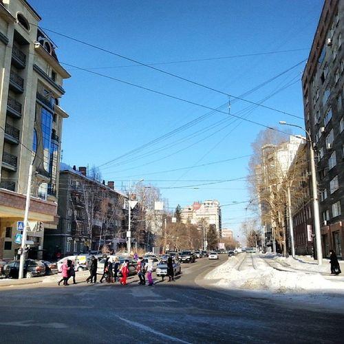 2014 -02-07, Новосибирск , улица_Мичурина / Novosibirsk . Street.