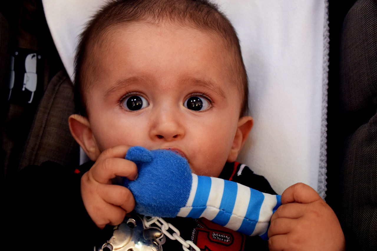 Baby Babyhood Childhood Close-up Cute Day Indoors  Innocence Looking At Camera One Person Pacifier Portrait Real People