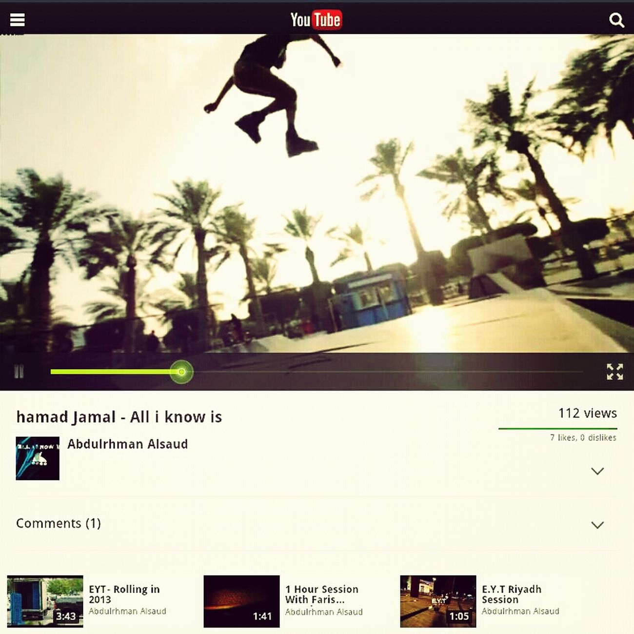 "Skate Kuwait Skate Park تصو Watch ""hamad Jamal - All I Know Is"" On YouTube - Https://www.youtube.com/watch?v=ISJPVi5okVQ&feature=youtube_gdata_ Watch ""hamad Jamal - All I Know Is"" On YouTube - Https://www.youtube.com/watch?v=ISJPVi5okVQ&feature=youtube_gdata_player"