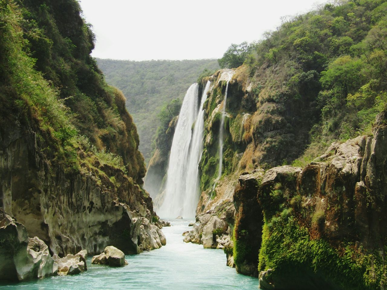 Waterfall Beauty In Nature River Power In Nature Scenics Amazing View Adventure Time Tamul, San Luis Potosí, México :3