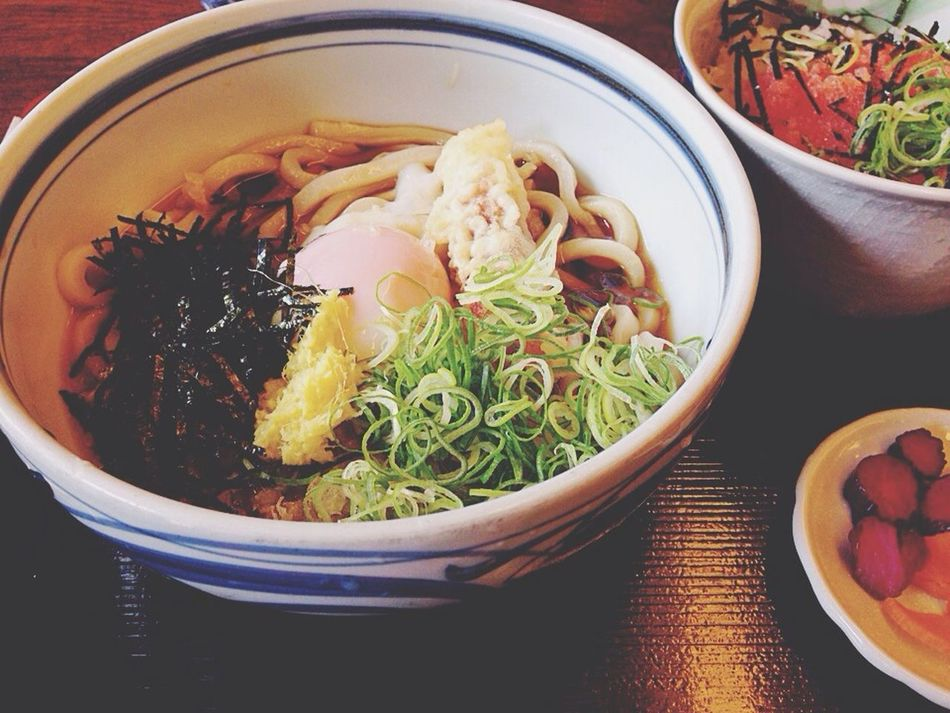 Udon Noodles Eating Relaxing Yummy