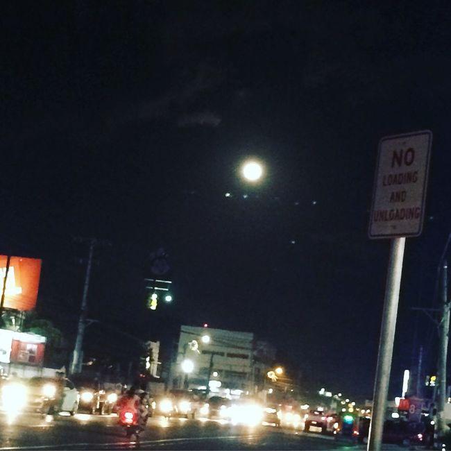 Fullmoon Citylights♥ Night View Moonlight