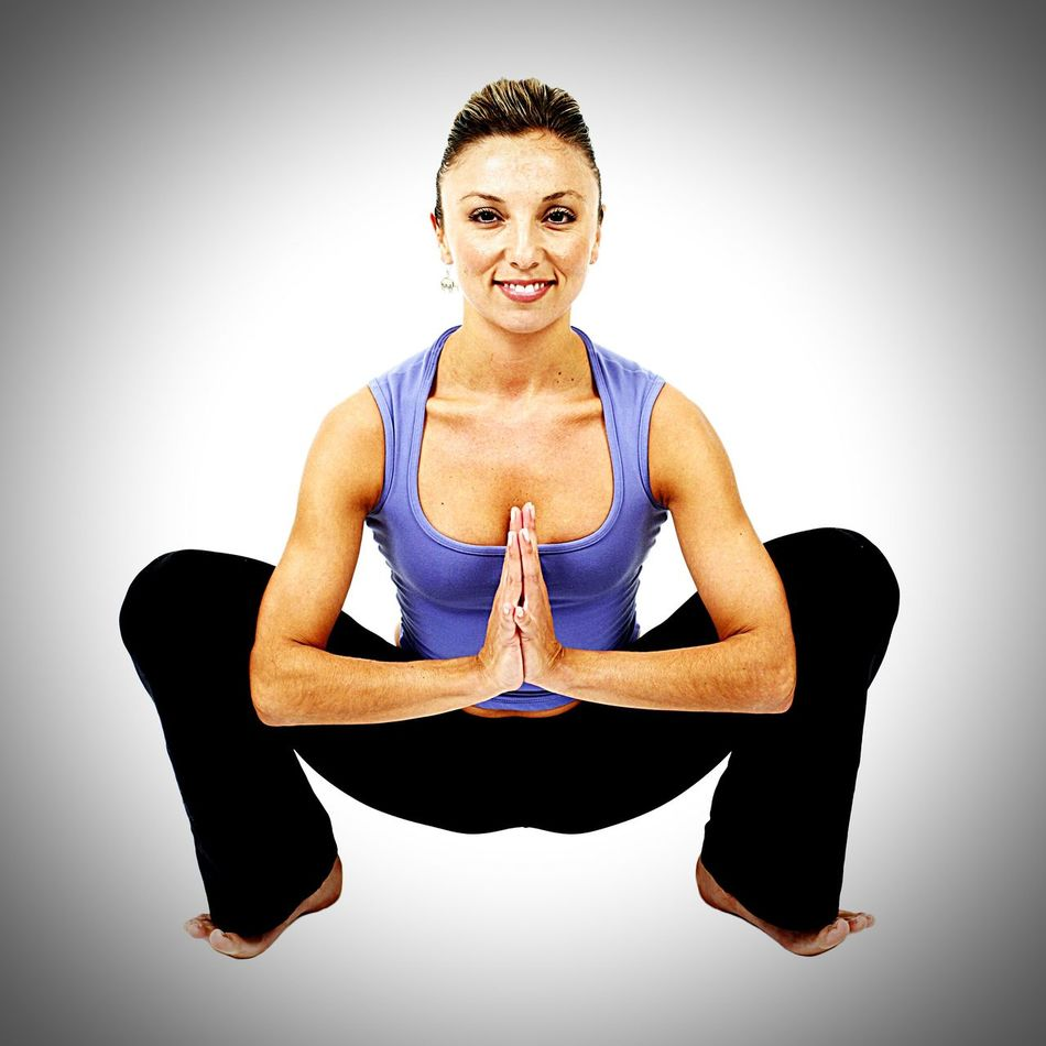 Yoga Only Women Sitting Looking At Camera Adults Only Exercising Full Length Smiling Adult Cross-legged Relaxation Exercise Balance People Mature Adult One Person One Woman Only Studio Shot Healthy Lifestyle Portrait Zen-like First Eyeem Photo