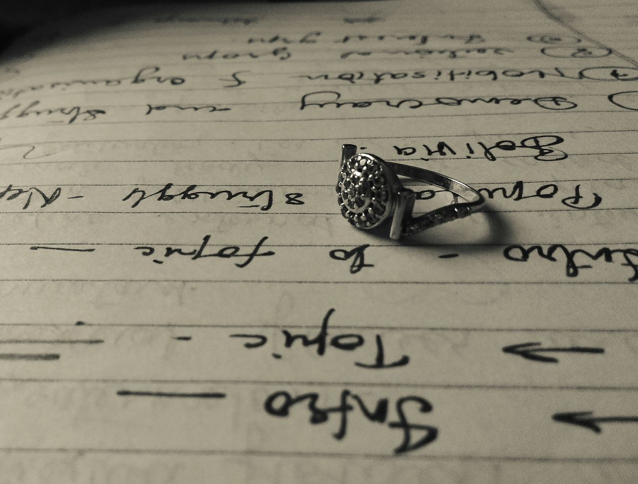 Text Writing Close-up Ring Paper Handwriting