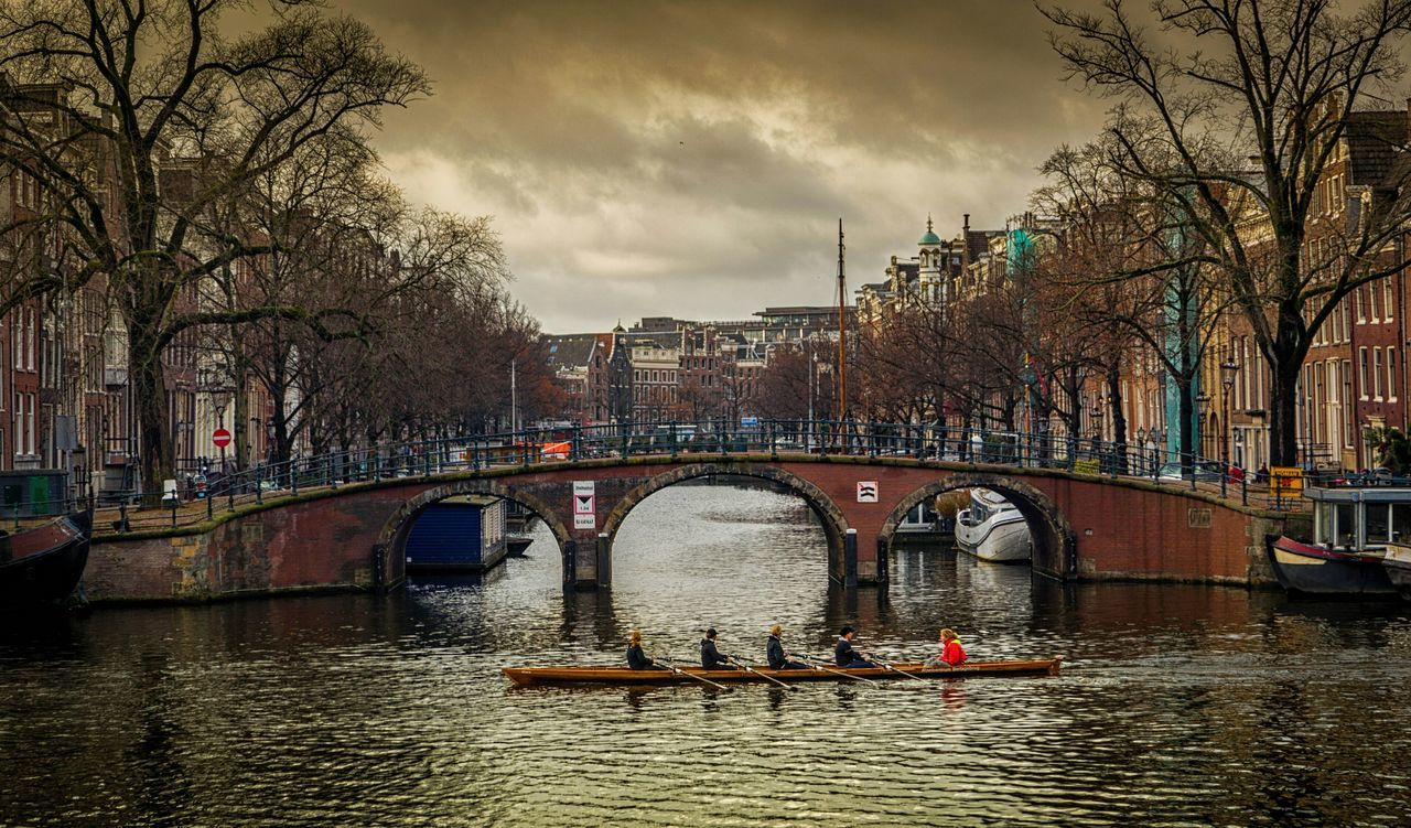 Bridge - Man Made Structure Architecture Water City Amsterdam Bicycle Canal Film Photography Canon5Dmk3 Amsterdamcity Amsterdam Canal Amsterdamthroughmycamera Mode Of Transport Amsterdam.nl Canals Of Amsterdam Cinema In Your Life Amsterdam Streets Amaterdamnoord Rowing Boat Rowing 💖💖💖💖 Rowing Canal Rowing Race RowingCompetition Rowing Regatta Rowing Teams