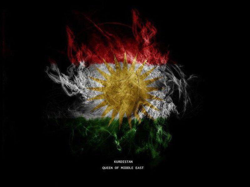 kurdistan. flag
