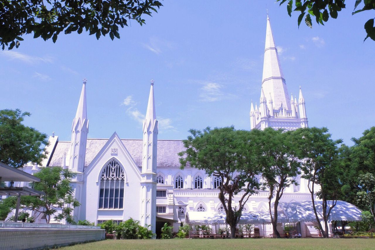 St. Andrew's Cathedral Cathedra St. Andrew's Church St. Andrews Singapore Singapore Landmark Singapore City Saint Faith Church Place Architecture Sanctuary  Holy Chirstianity Pilgrimage Tower Famous OldAncient Reglious