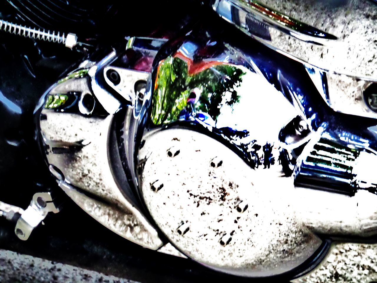 Art Photography Chrome Close-up Day Edit Edit.  Motorcycle Engine. Part Of. Shiny No People Outdoors Silver. Colours.