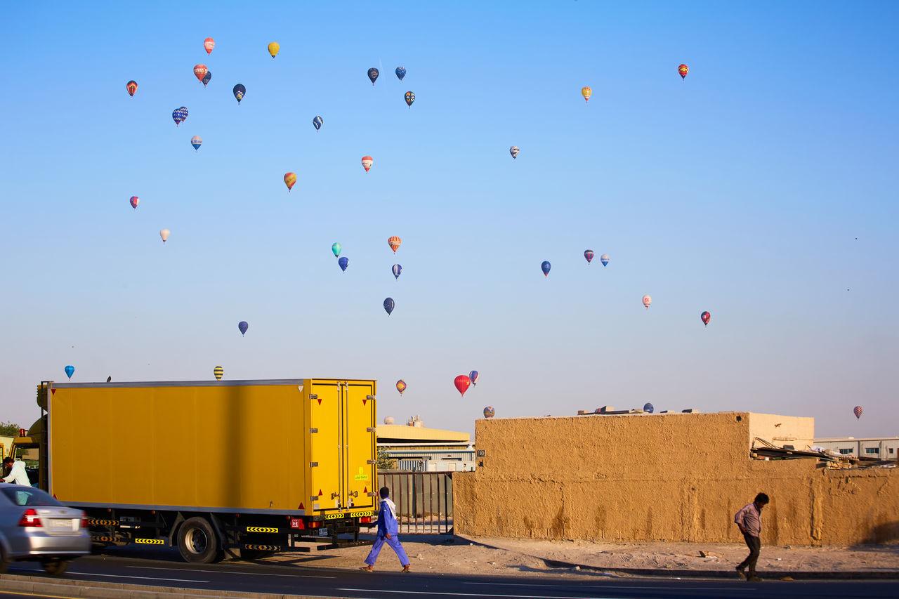 Balloons Dubai Dubai❤ DXB Hot Air Balloon Hot Air Balloons Sky Street Street Photography Streetphotography The Photojournalist - 2017 EyeEm Awards