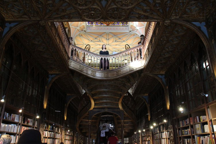 Architecture Bibliothek Bibliotheque Antik Livraria Lello People City Tadaa Community Europe Art EyeEm Best Shots Amazing View Pic Of The Day Photographing Baroque Style History Colorful Books One Women Tourist Indoors
