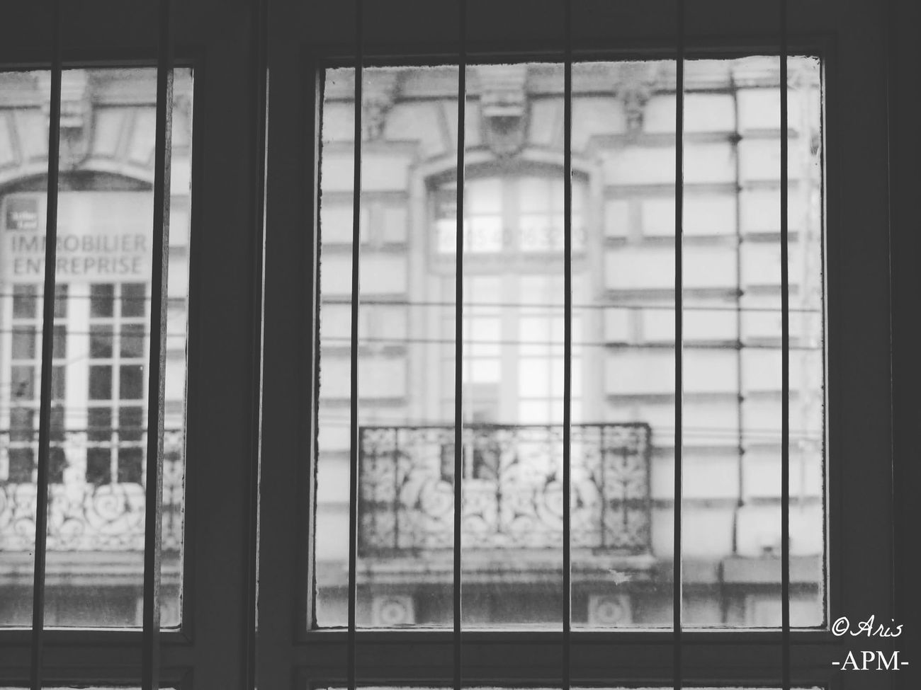Window Indoors  Architecture Security Bar No People Built Structure Greenhouse Day Sky Close-up Sliding Door Aris Philoxene Meyborn Black & White Photography Photography Tranquility People Limoges Picture French Francephotographer Fragility Old Prison