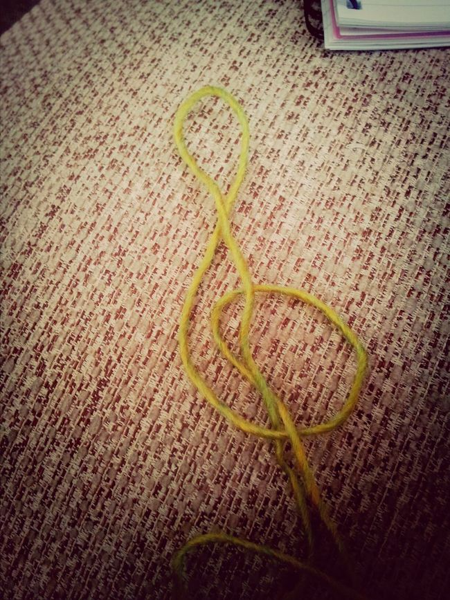 My wool makes music? Taking Photos Knitting Relaxing Music