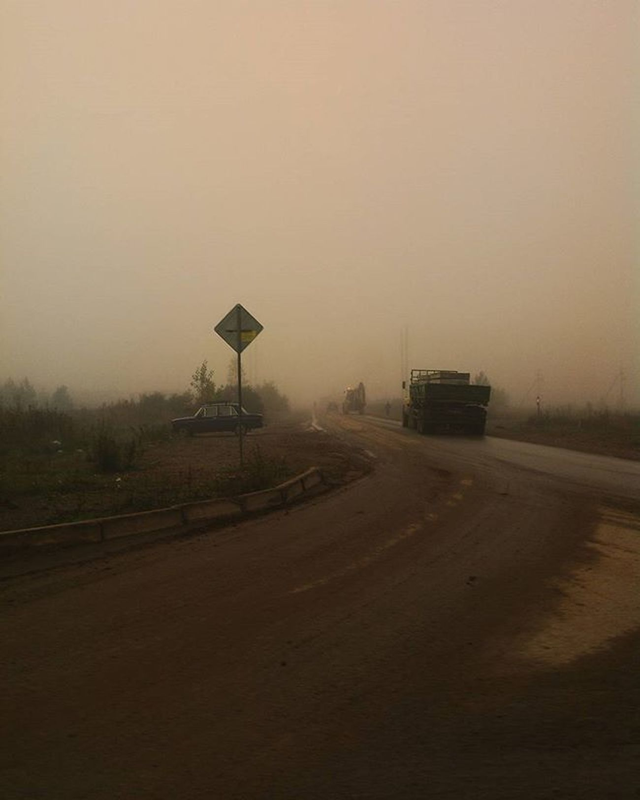 утро туман Нефтекамск сегодня  осень Morning Fog Mist Autumn