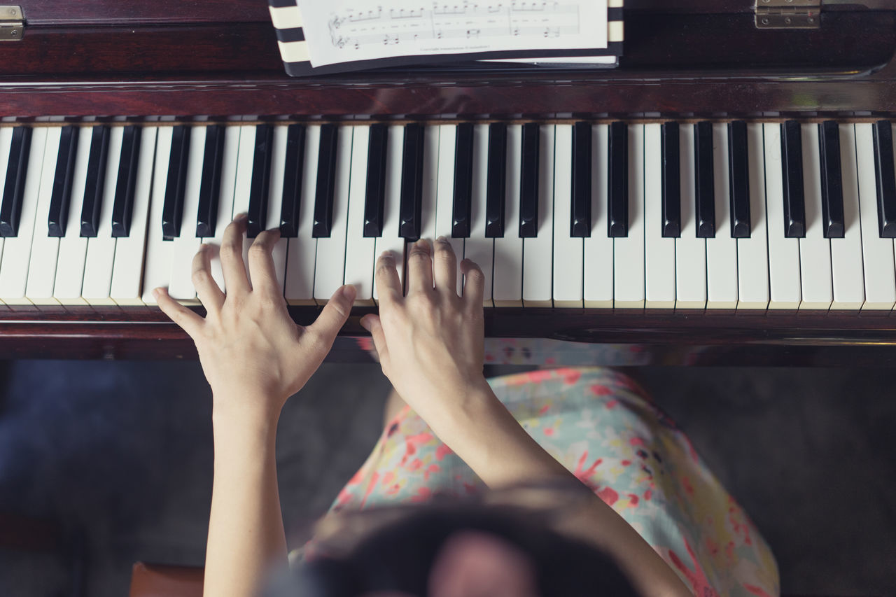 Hands at piano Arts Culture And Entertainment Close-up Day Human Hand Indoors  Lifestyles Music Musical Instrument Musician One Person People Performance Pianist Piano Piano Key Playing Real People Skill