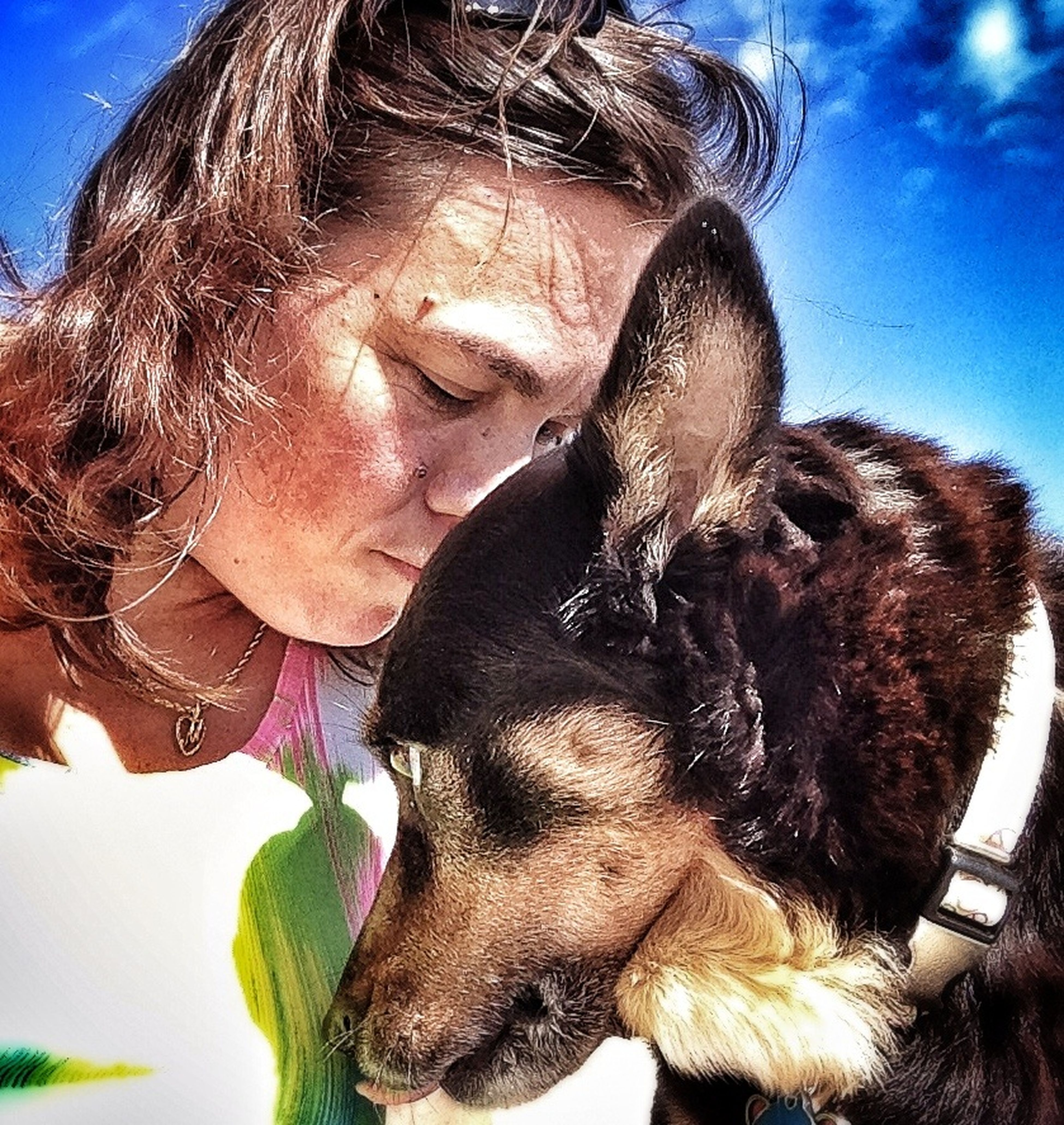 Capture The Moment For Love Of Dog Last Days Pet Photography  IPhoneography Damn You Cancer Sweetpea  I usually don't take selfies, but I captured this moment between me and my dog on her last trip to the beach two days before she lost her battle to cancer. RIP sweet Riley.