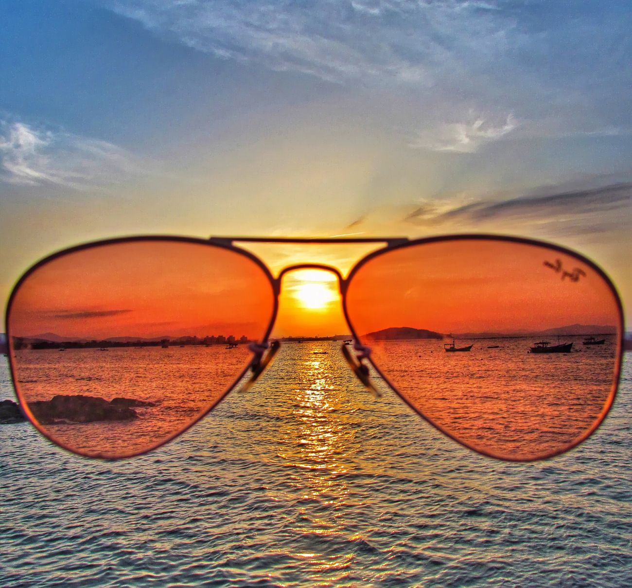 Feliz finde / Happy weekend Sunset Penha Beach Brazil
