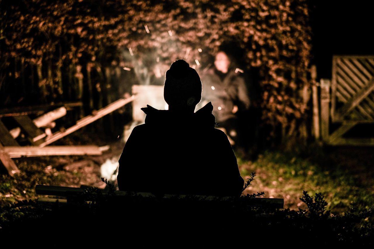 Rear View Sitting Real People One Person Outdoors Night Nature Bonfire Fireplace Camping The Week Of Eyeem Photography EyeEm Gallery EyeEmBestPics EyeEm EyeEm Best Shots EyeEmBestEdits Fujifilm Fujifilm_xseries Nature