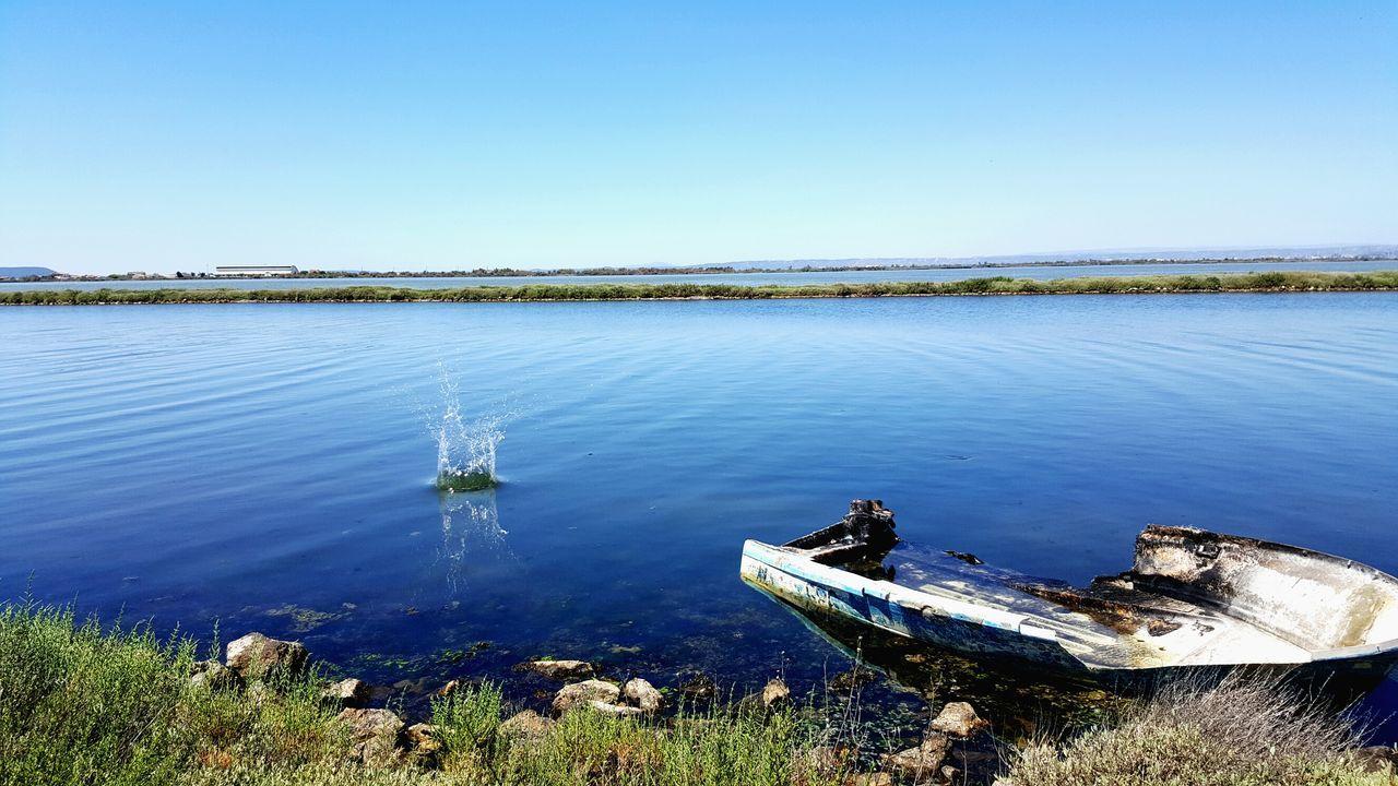 Nature Éclaboussures Barlatier Lac Blue Eau Bateau Abandoned Chateauneuf Les Martigues Marseille échouer