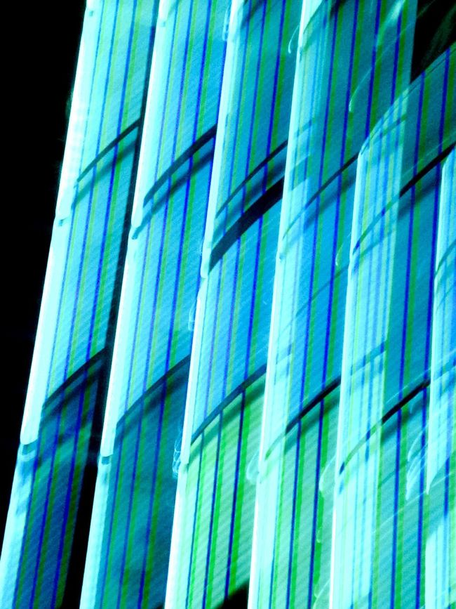 Abstract Light Pattern Color Aqua Light Trails Abstraction Lines Vertical Blue