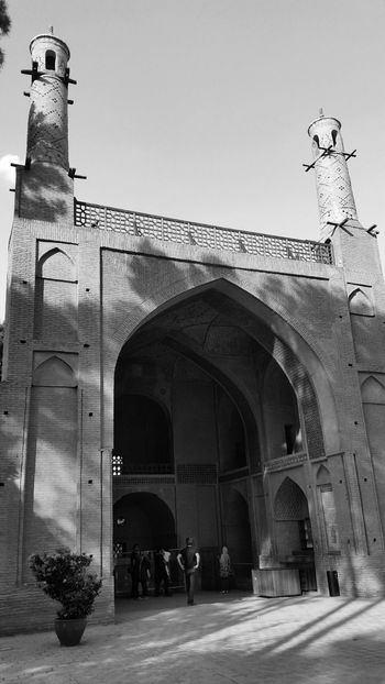 Architecture Attraktion Blackandwhite Historical Sights Historische Plätze Iran Isfahan Menar Jomban Monochrome Schwarzweiß Tourist Attraction