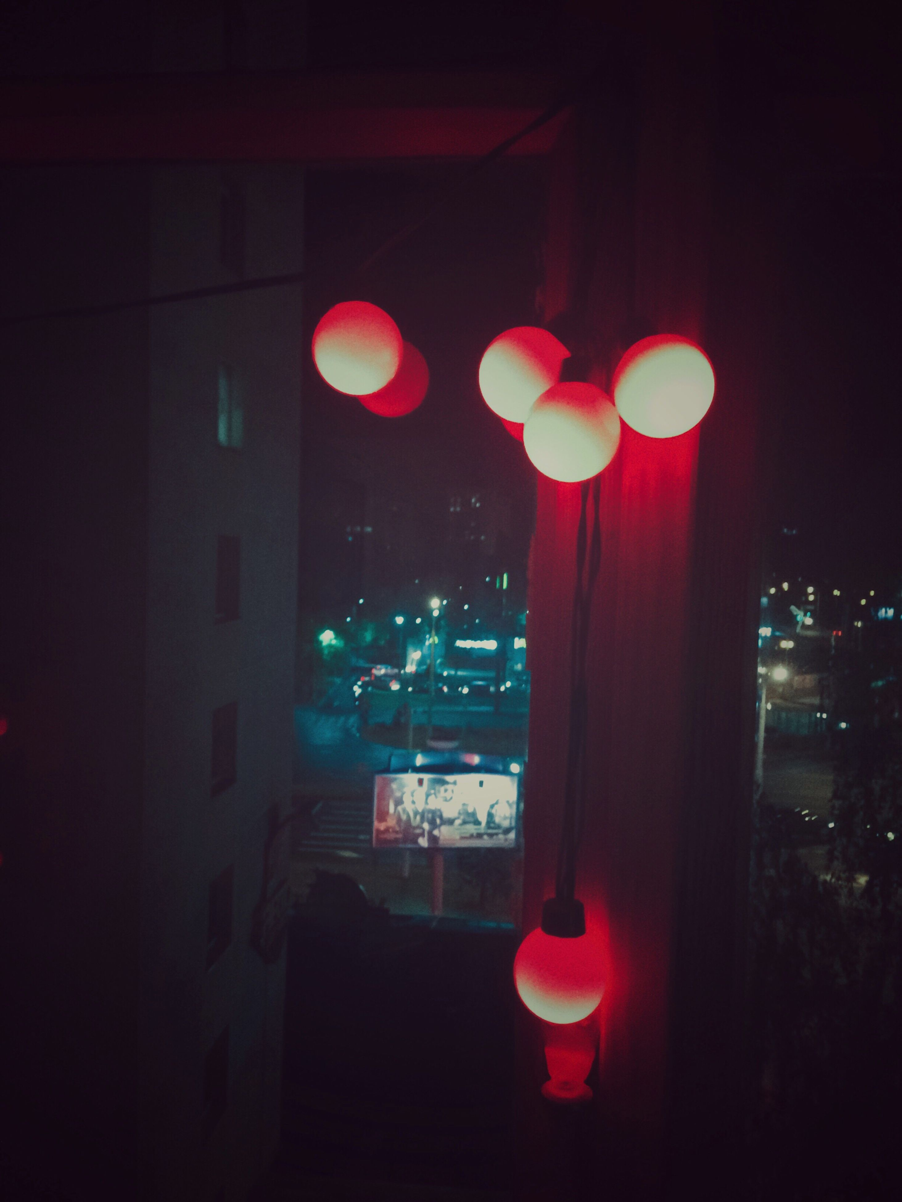 illuminated, night, red, no people, architecture, outdoors