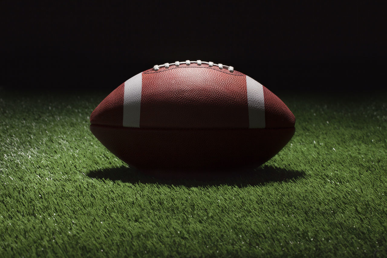 Black College Contrast Dark Background Football Grass Green Color Low Angle View No People Shadow Turf