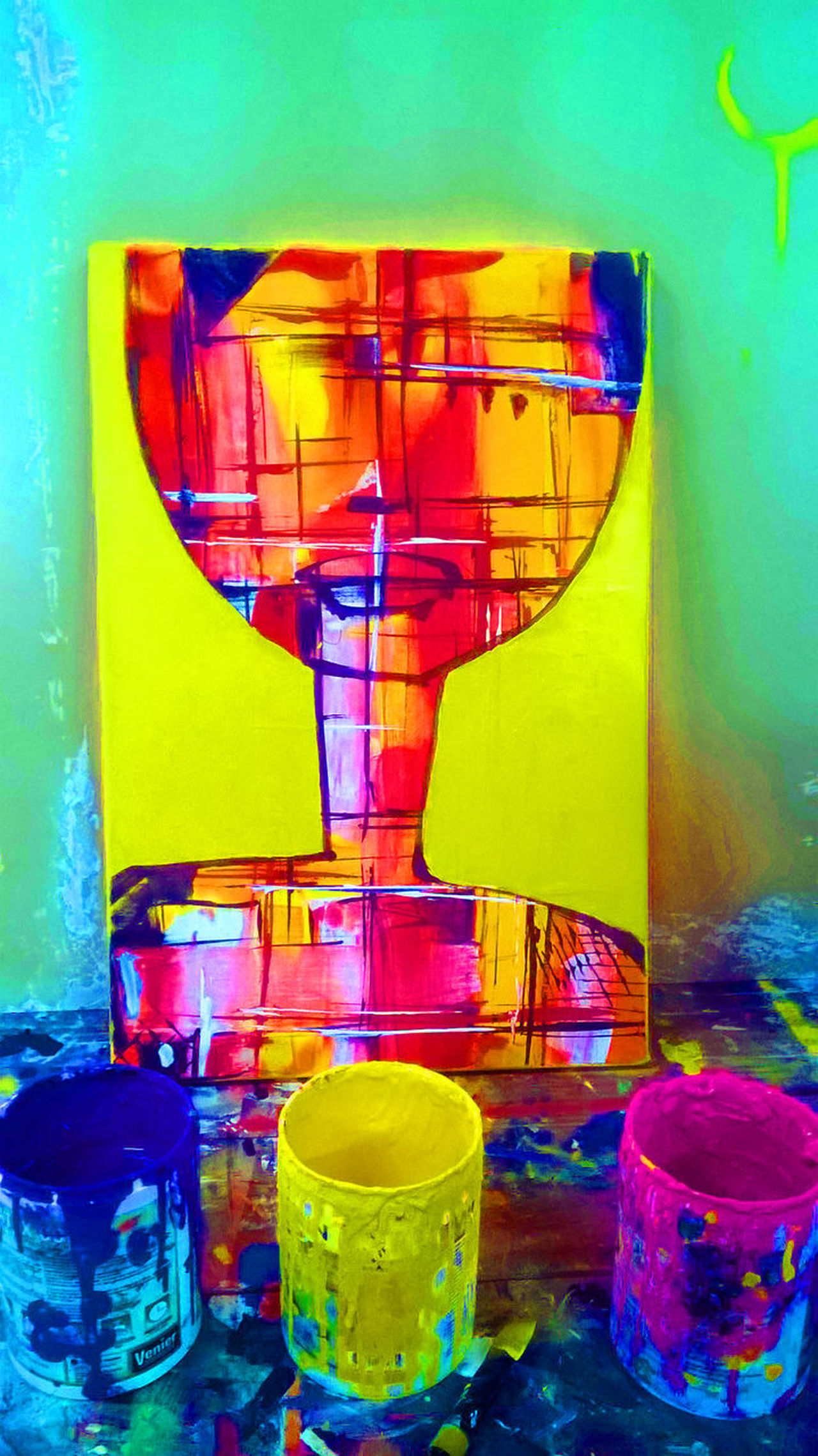 ARTISTA LORENA MAS Art Arte Color Colour Day Indoors  Multi Colored No People Paint Painting Pintura Table Yellow