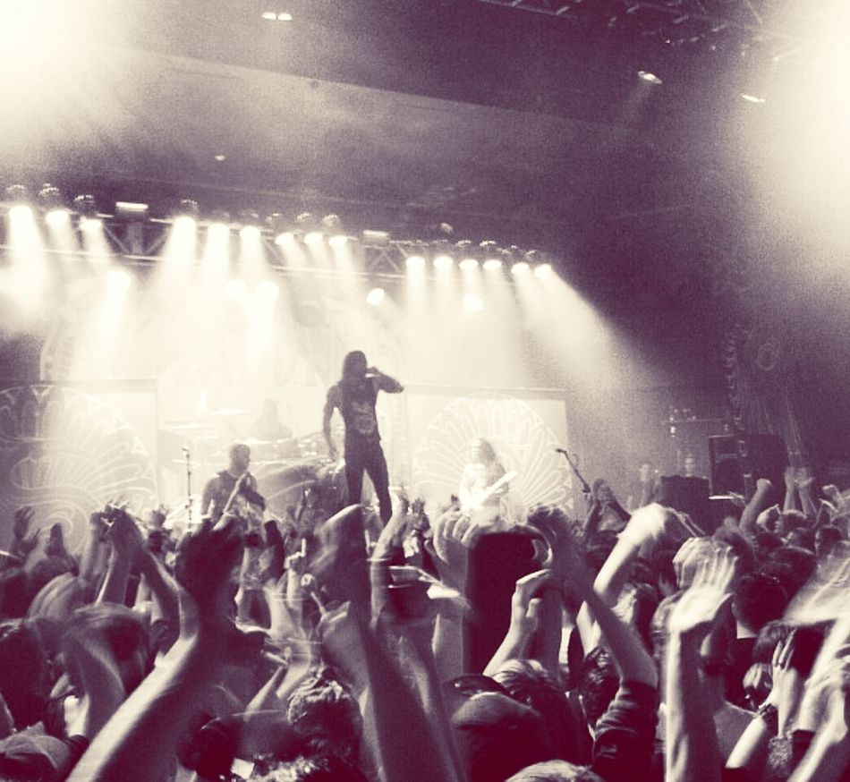 The last ever time I will see Tim Lambesis with As I Lay Dying My Favourite Band. Live Music Metal Black And White