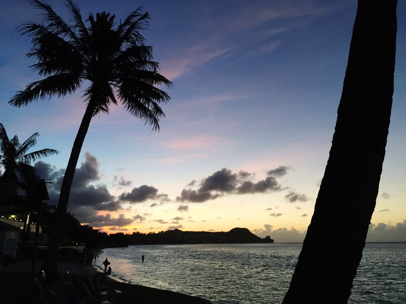 Beach Traveling In Guam Sunset