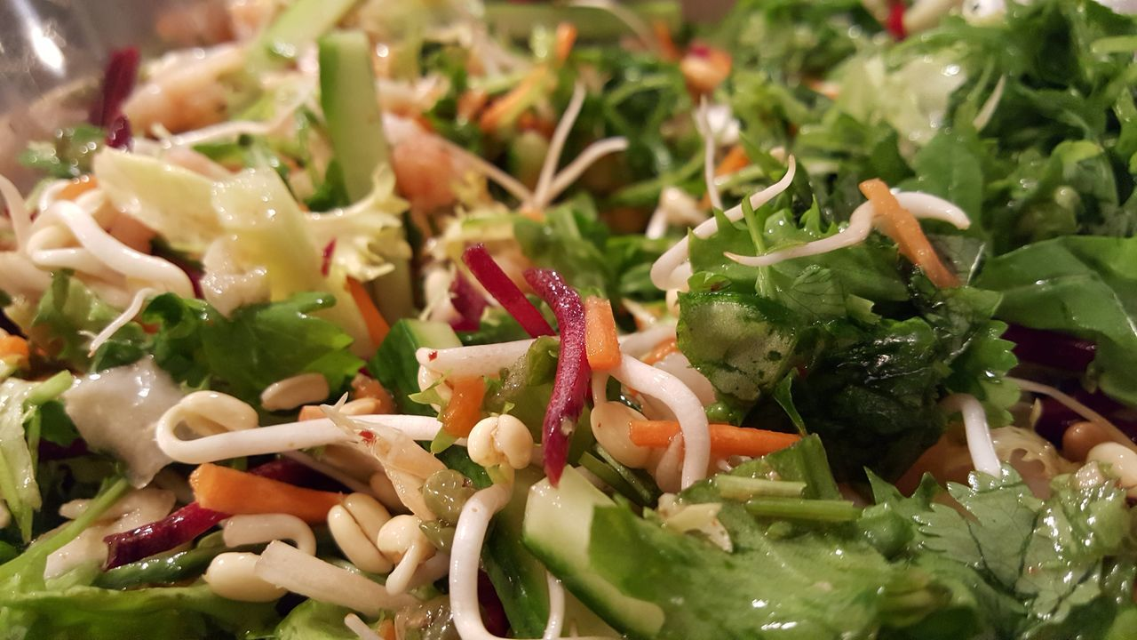 Asian inspired salad. Food Food Photography Freshness Salad Salad Bowl Salad Vegetable Healthy Eating Close-up Salad Greens Healthy Food Healthyfoodporn