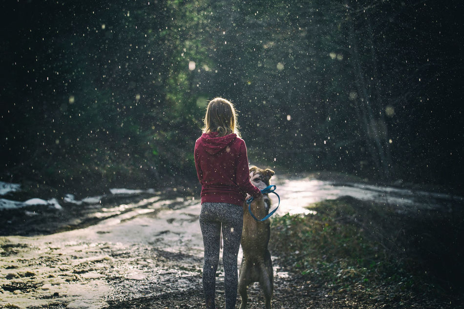 Adult Adventure Blonde Bonding Day Dog Dog Love Dog❤ Freedom Friendship Green Green Color Leisure Activity Lifestyles Nature Outdoors People Rain Rainy Days Real People Summer Togetherness Vitality Women Wonderlust Fresh On Market 2017